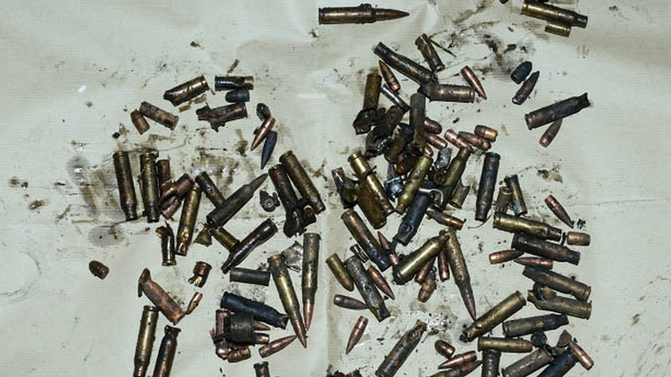Bullets exploded after being left on a hot boiler