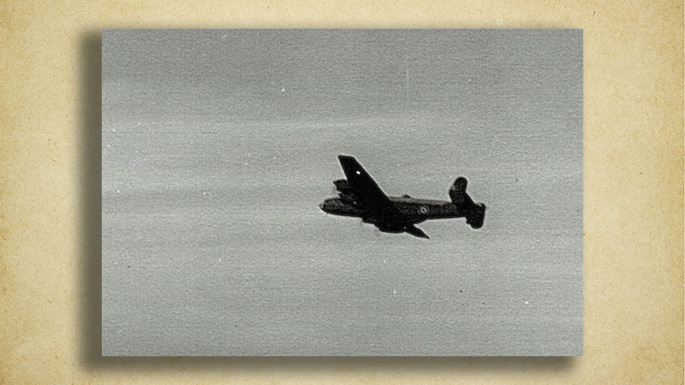 bomber in flight