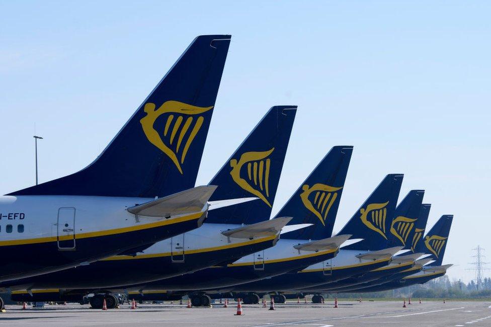Ryanair aviones.