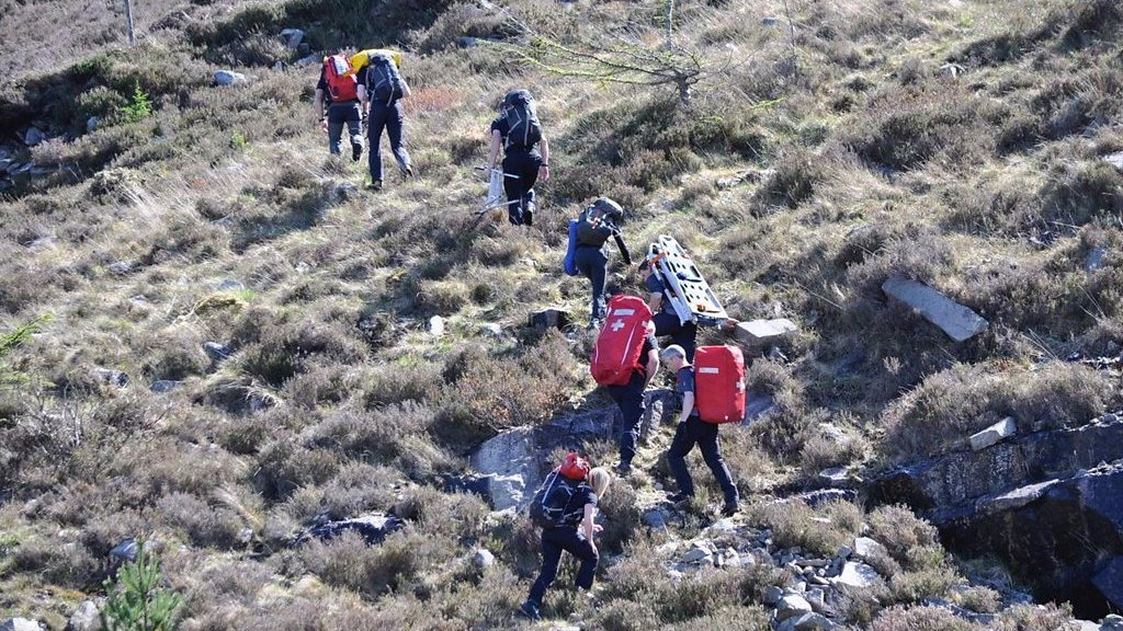 Search and rescue groups in action