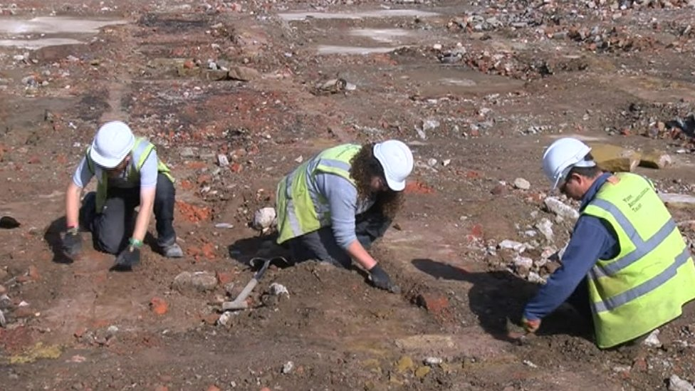Archaeologists at Northallerton Prison