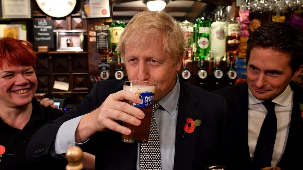 Boris Johnson en campaña