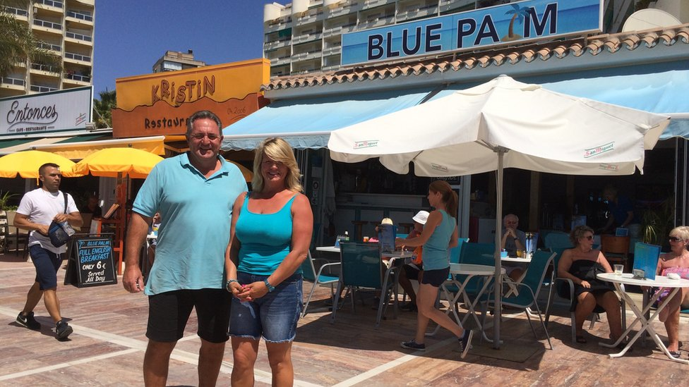 Ruth and Nigel Stevenson, owners of the Blue Palm cafe