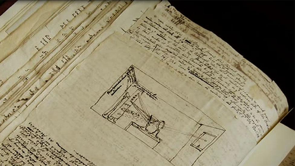 Diagrama de Newton en libro