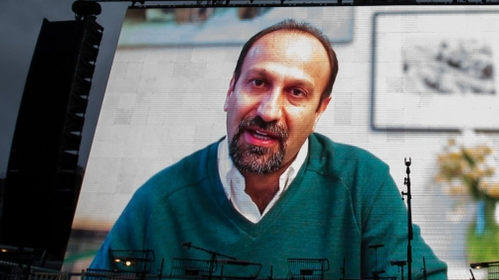 Asghar Farhadi sent a recorded message to those watching the London screening