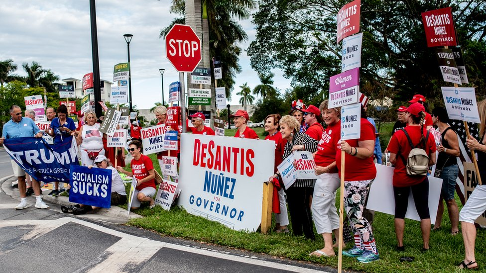 Supporters of Ron DeSantis