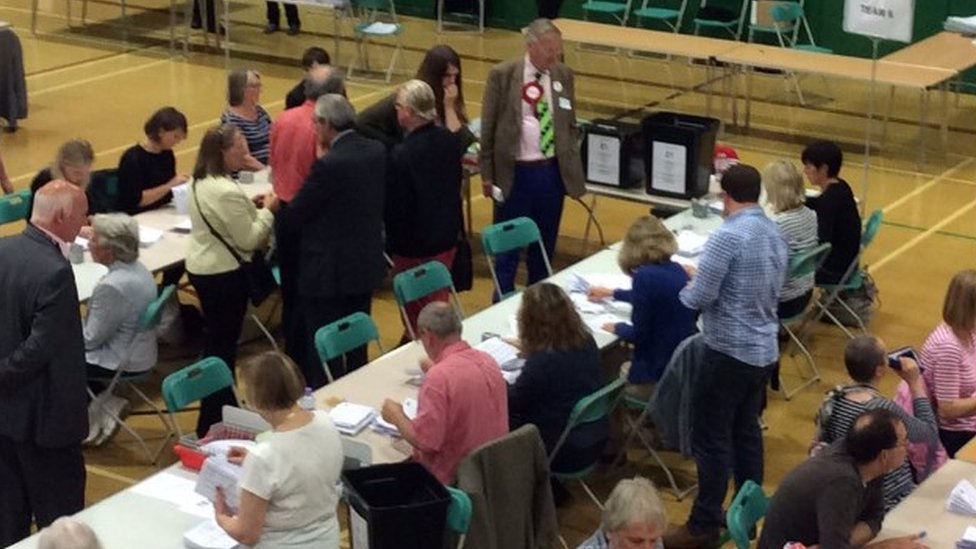 EU referendum count in Christchurch