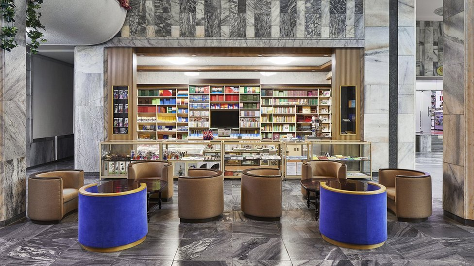 Lobby area in the Yanggang Hotel