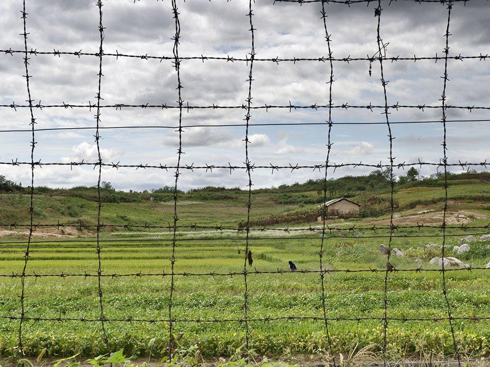 Zona desmilitarizada en Corea del Norte.