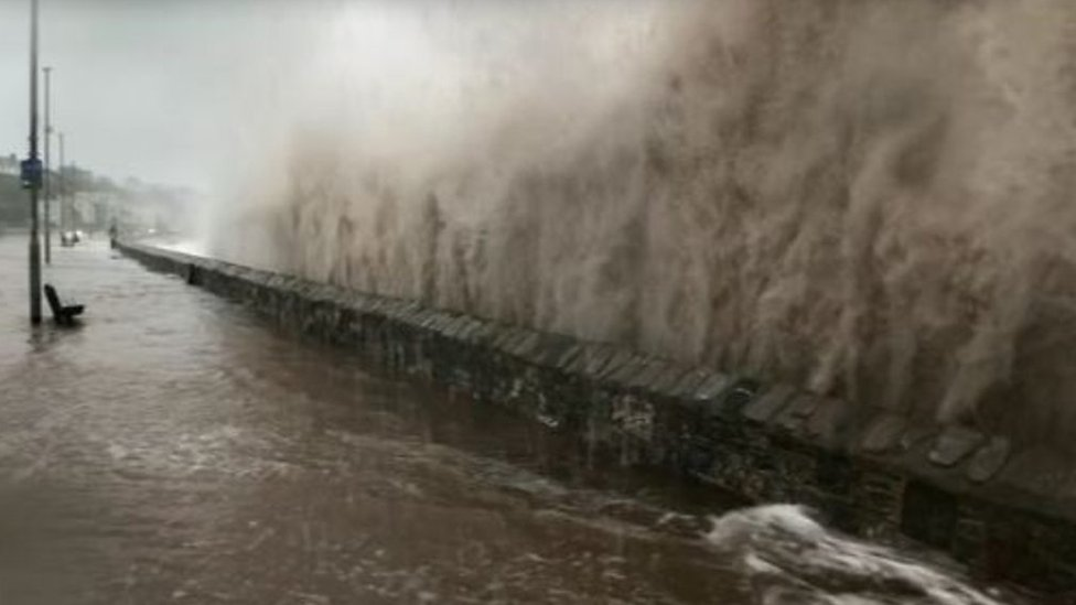 Exmouth seafront flooded by Storm Callum ahead of £12m defences