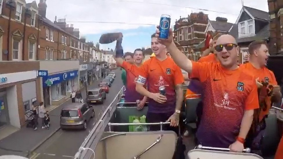 Open-top bus parade for Sunday league stars Duckpond FC
