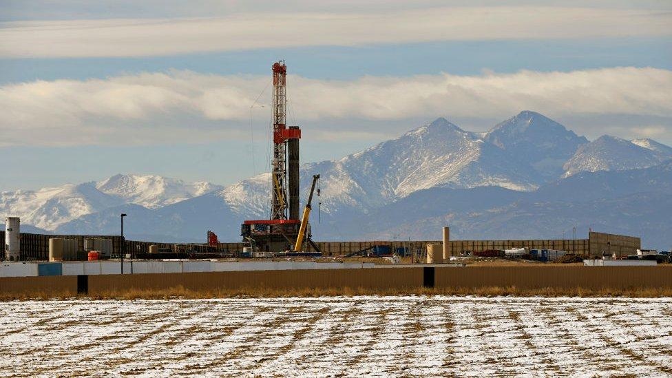 Fracking site in Colorado
