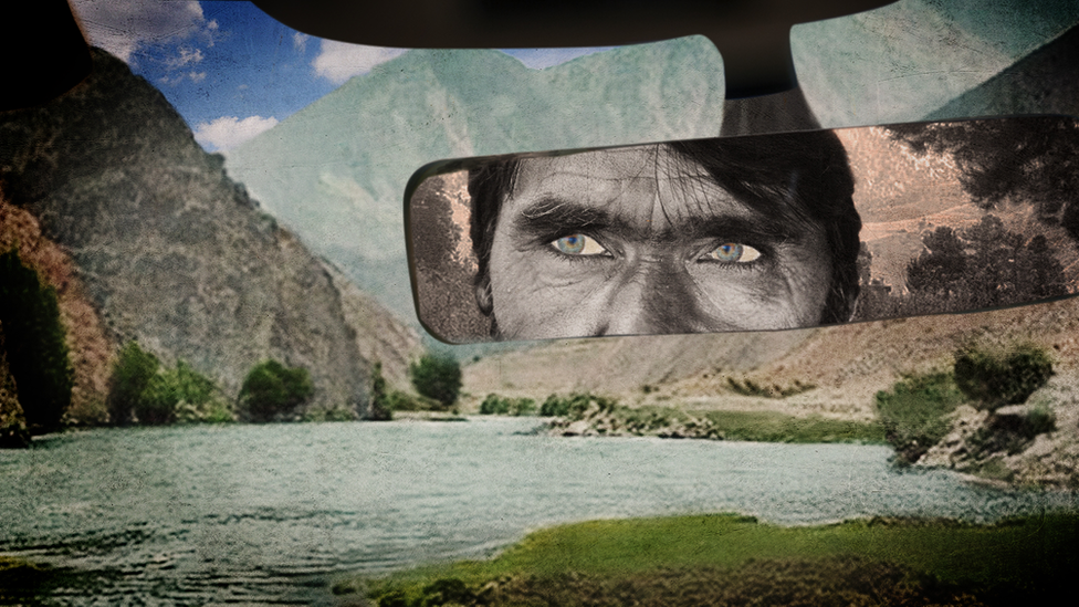 Illustration of an Afghan taxi driver