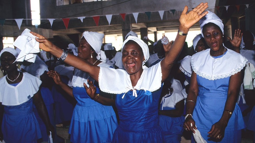 The evangelistic Musama Disco Christo Church in Accra.