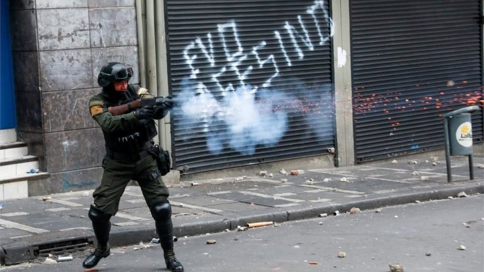 Enfrentamientos en La Paz