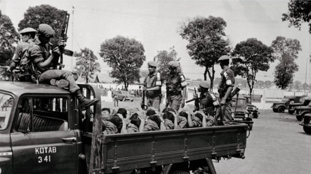印尼軍隊抓捕大批左翼人民青年團的成員