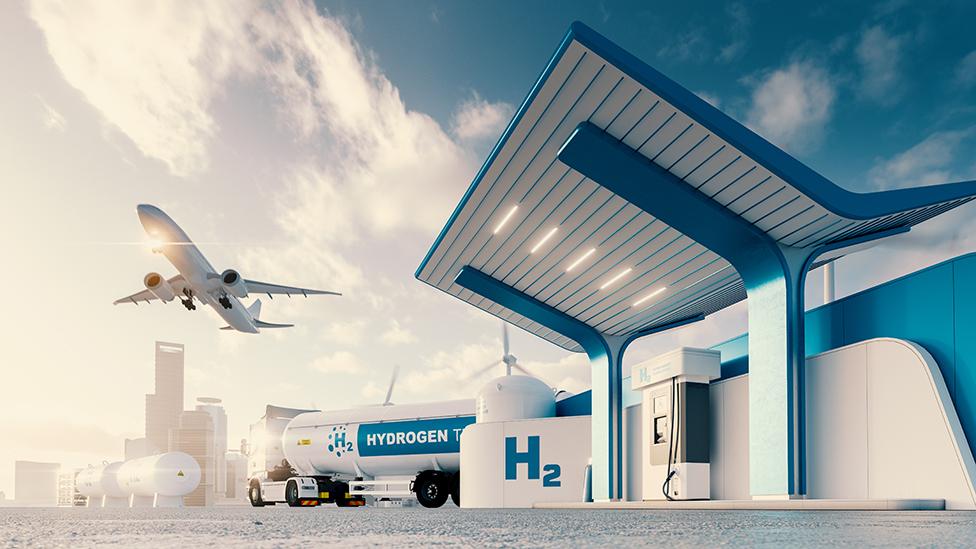 Distintos transportes que podrían funcionar con hidrógeno verde.
