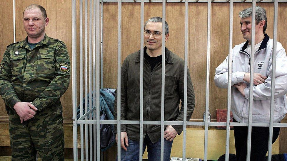 Mikhail Khodorkovsky y Platon Lebedev