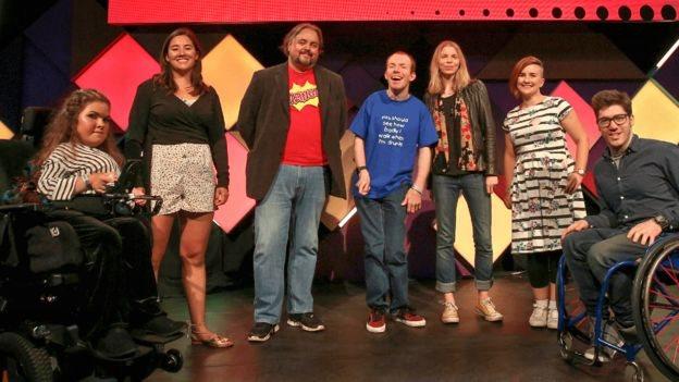 Invitados al evento de la BBC Ouch's en el Festival Fringe de Edimburgo.