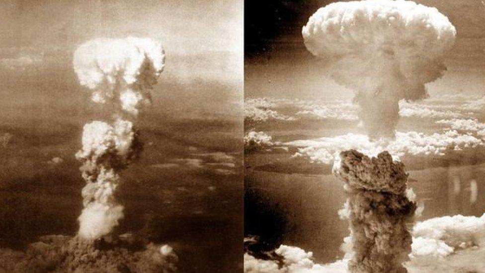 Bom atom di Hiroshima dan Nagasaki dijatuhkan Amerika pada Agustus 1945.