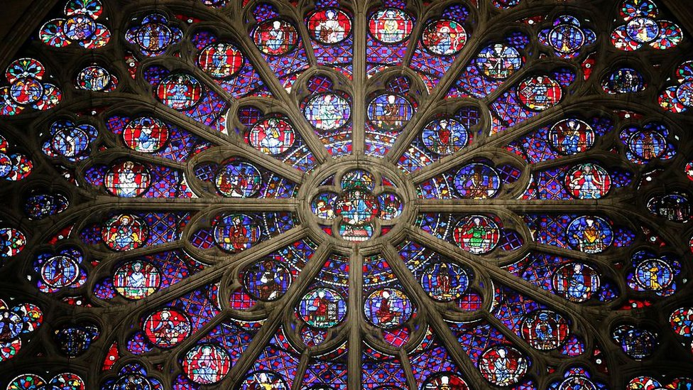 Rose window in the Notre-Dame