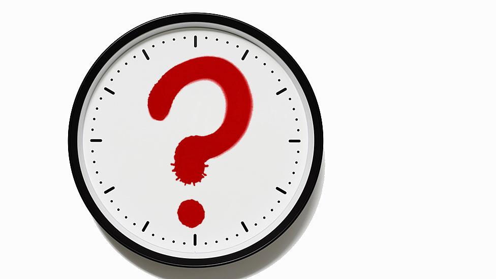 Reloj con signo de interrogación