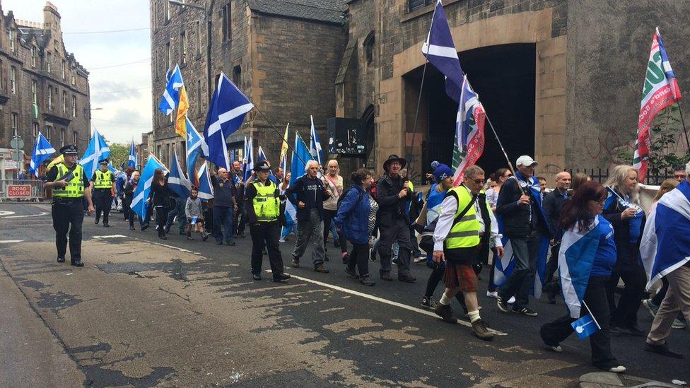Yes2 march in Edinburgh