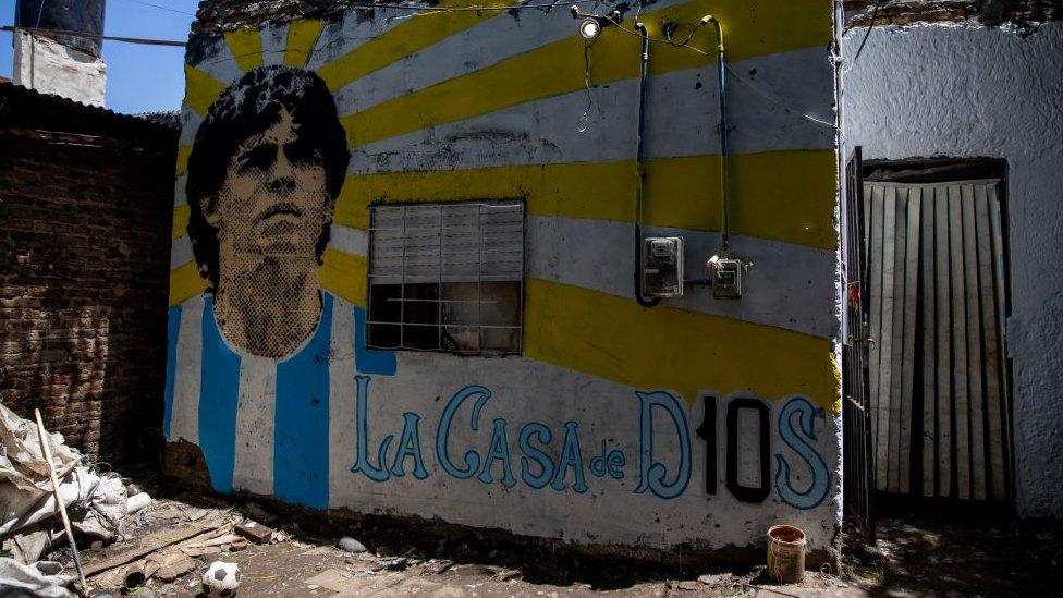 منزل دييغو مارادونا في فيلا بوريتو في بوينس أيريس