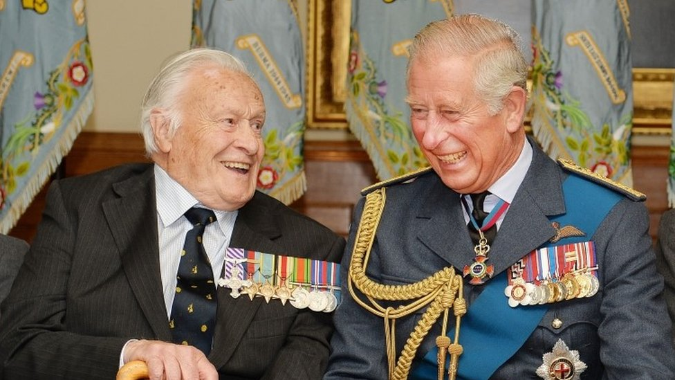 Geoffrey Wellum and Prince Charles in 2015