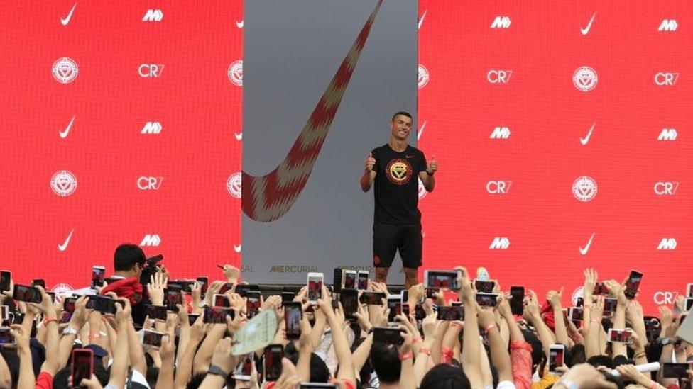 Kristijano Ronaldo na Najki događaju