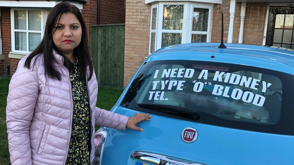 Coventry woman appeals for kidney donor with car advert
