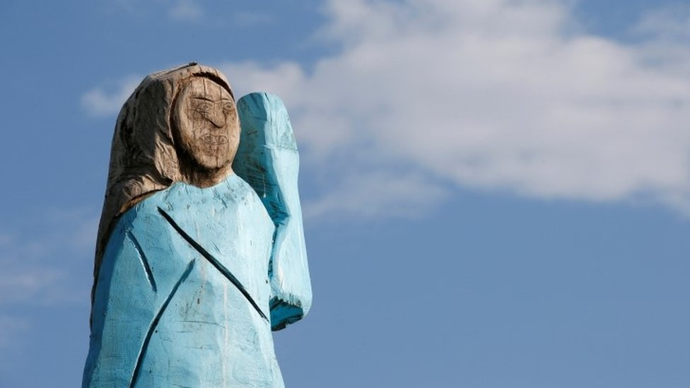 La estatua estaba cerca de Sevnica.