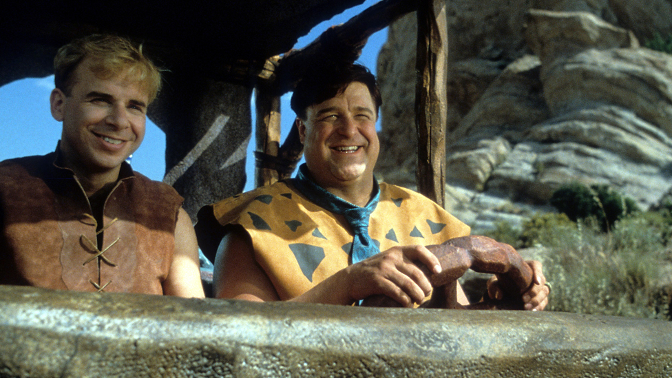 Rick Moranis and John Goodman in The Flintstones