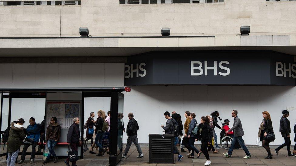 closed BHS shop