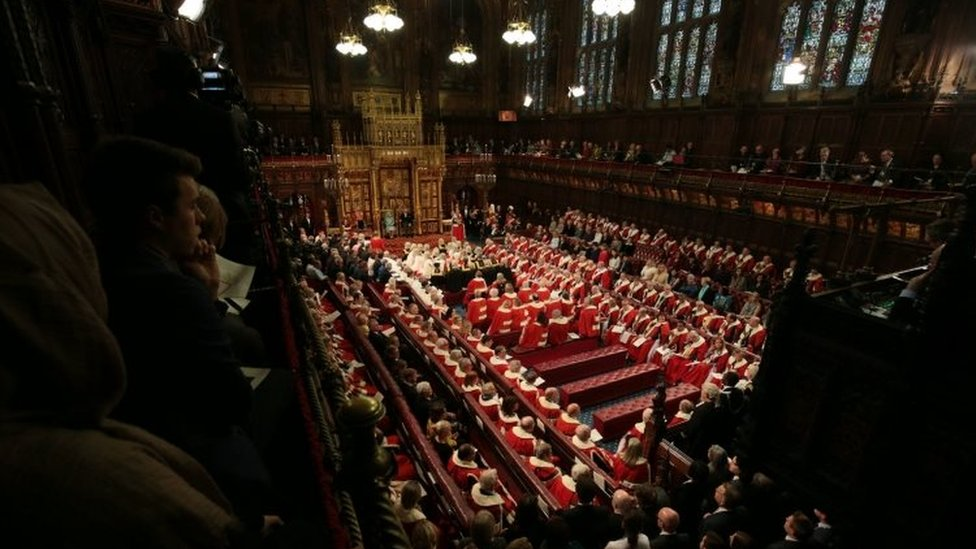 The House of Lords during the Queen's Speech