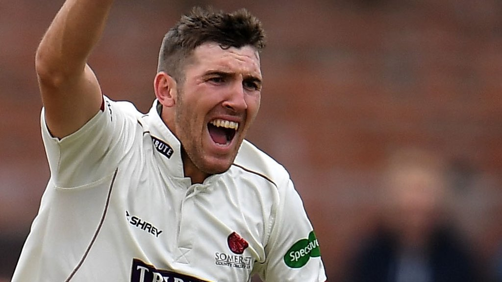 County Championship: Craig Overton hat-trick helps Somerset to innings win v Notts