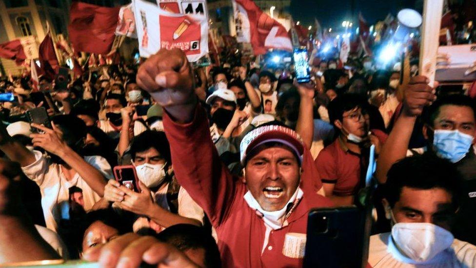 Apoyo al candidato Pedro Castillo