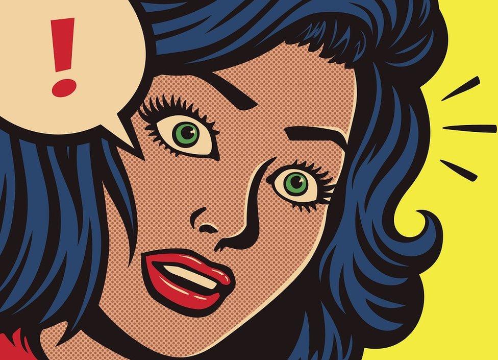 Pop art crtež žene