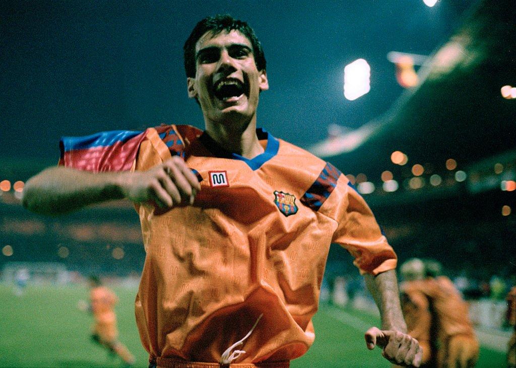 Pep Guardiola en 1992.