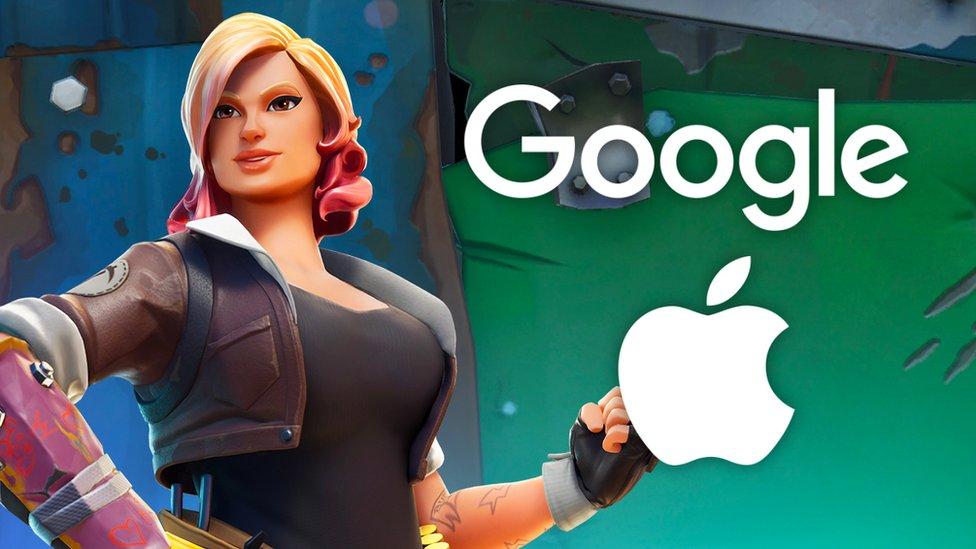 Logos de Google y Apple