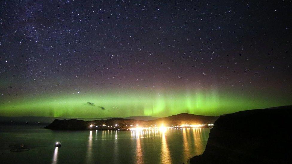 Aurora borealis, Uig