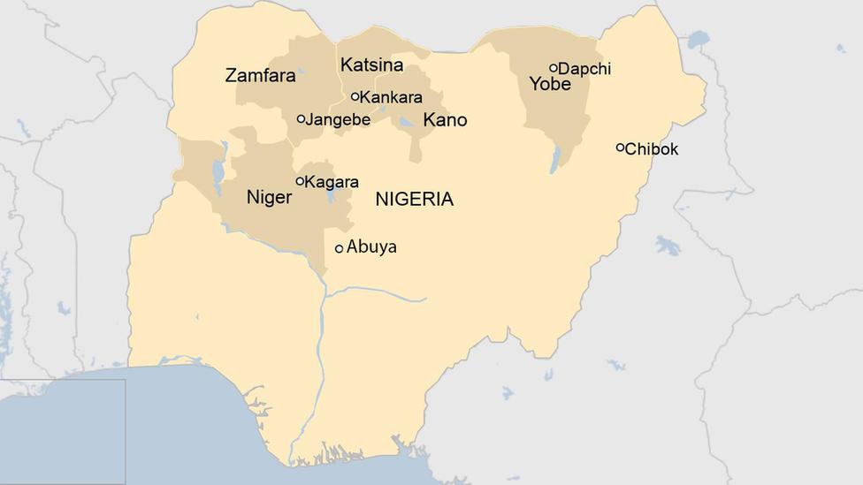 En este mapa se ve dónde ocurrieron los secuestros masivos de estudiantes.