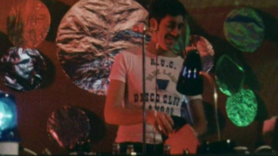 Police DJ at disco
