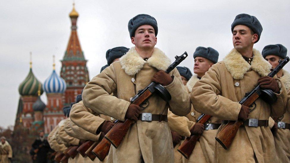 Russian military parade, 7 Nov 17