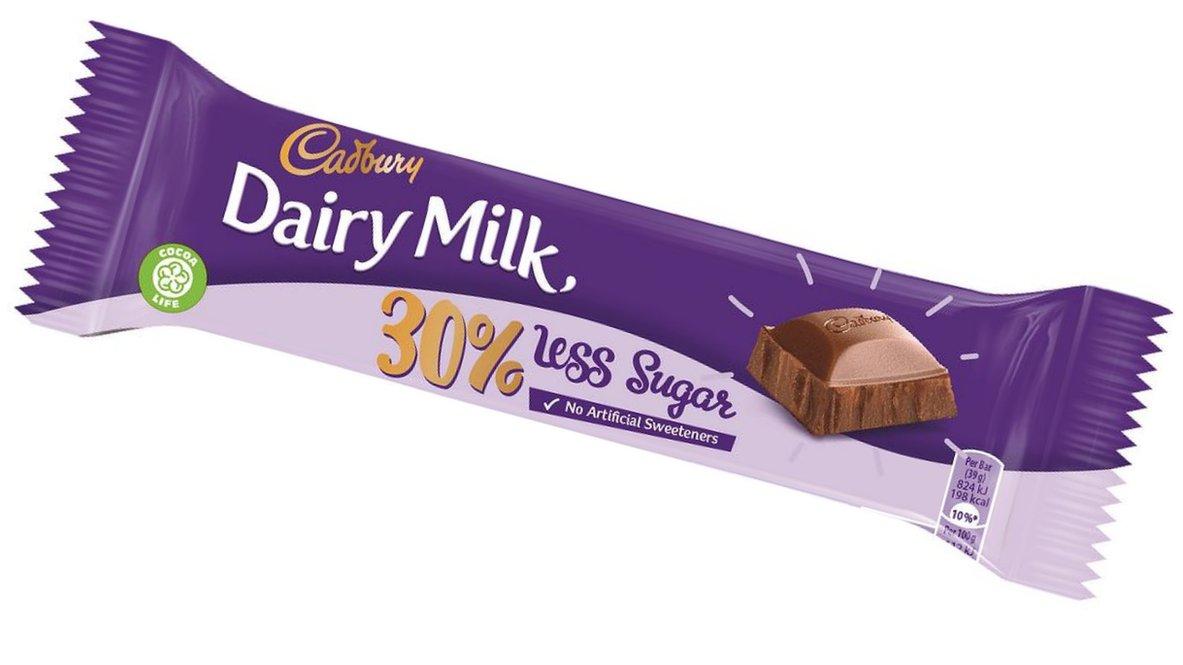 Cadbury's Dairy Milk to offer low-sugar version