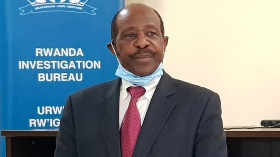 "Paul Rusesabagina, the man who was hailed a hero in a Hollywood movie about the country""s 1994 genocide is detained and paraded in front of media in handcuffs at the headquarters of Rwanda Investigation Bureau in Kigali, Rwanda August 31, 2020"
