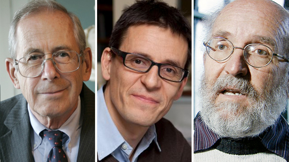 Džejms Pibls, Majkl Mejor i Didijer Keloz