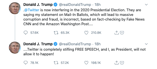 Trump Threatens To Shut Down Social Media Companies Bbc News