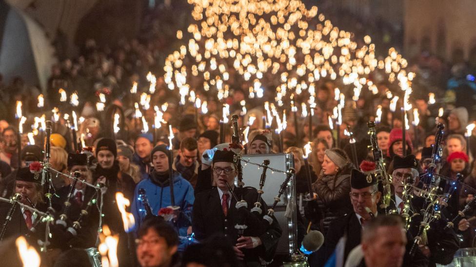 torchlight parade