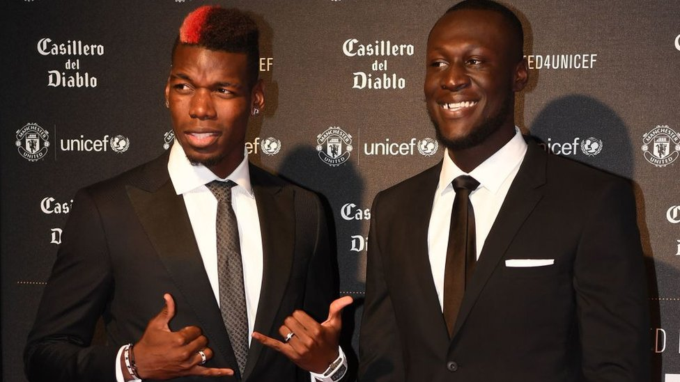 Paul Pogba and Stormzy